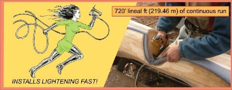 Stapling flange - P gasket