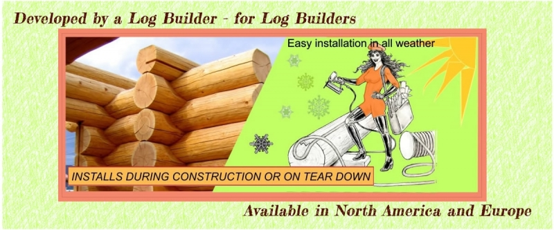 P Gasket Log Home Gasket installs in all kinds of weather