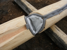 No need for batt insulation in laterals when cutting shallow cove and using P Gasket